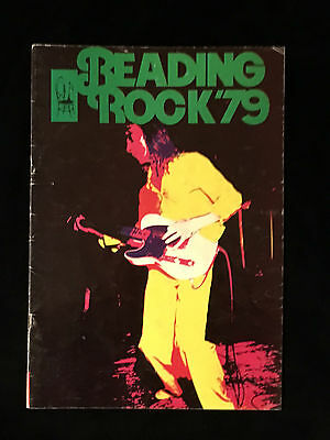 Reading Rock Festival-1979-Concert Program-Cheaptrick-The Cure-Motorhead-Police