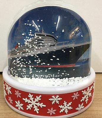Cunard Line QUEEN MARY 2 Photo Snow Dome Cruise Ship Liner