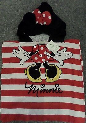 Disney Character Hooded Poncho Towel~ MINNIE MOUSE~ BNWT~0-24 Months