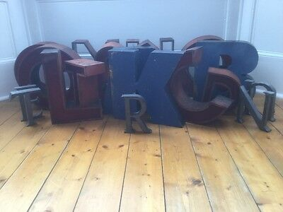1940/50's Metal Letter R Sign Name Initial Prop Industrial