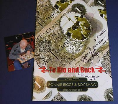 Ronnie Biggs & Roy Shaw Hand Signed Programme