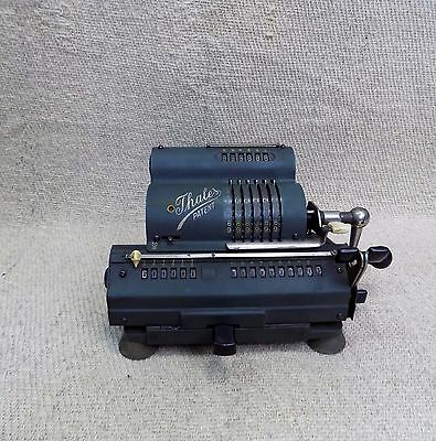 Antique Mechanical Pin Wheel Calculator / Calculating Machine THALES Patent