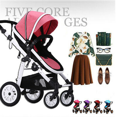 NEW Baby Stroller Toddler Pram Foldable Jogger Aluminium With Bassinet Pushchair