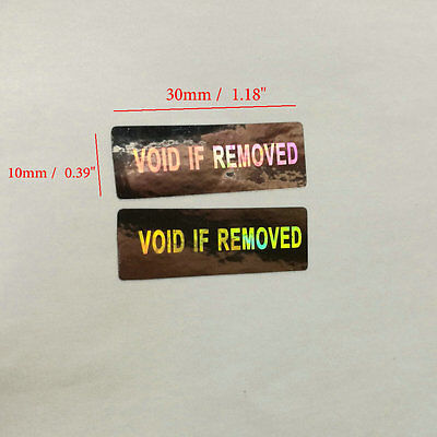 Hologram Security Warranty Void if Removed Sticker Label 100 200 500 1000
