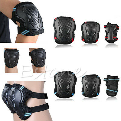 6Pcs Kids Adult Skating Scooter Elbow Knee Wrist Safety Pads Gear Set