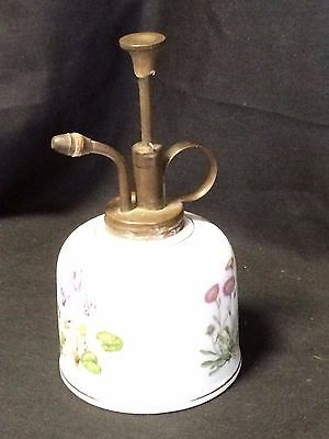 Vintage Painted Porcelain Plant Atomizer Mister Flowers Pump