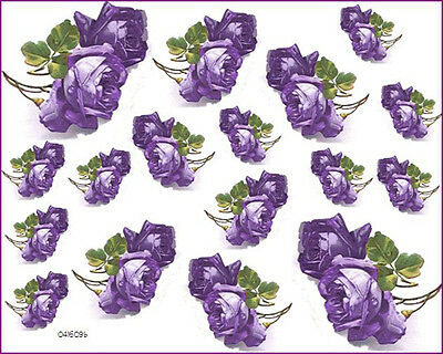 GorGeouS!! ToNs oF KLeiN PurPLe RoSeS ShaBby WaTerSLiDe DeCALs