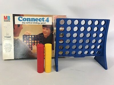 Connect 4 Four Original Vintage Edition 1976 Strategy Game Retro MB Games
