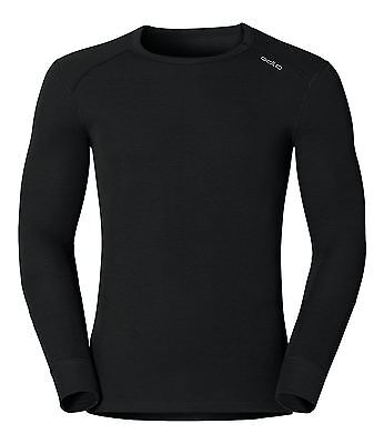 Odlo Men's Warm Effect Crew Neck Running Base Layer Black Medium