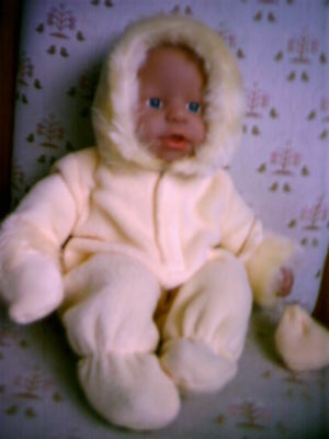 "Hand Made Lemon  Snowsuits To Fit 14"" My First Baby Annabell"