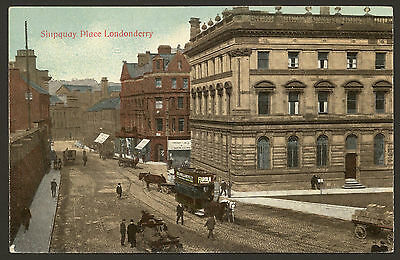 Northern Ireland. Londonderry. Shipquay Place. Horse-Drawn Tram by Madden Bros
