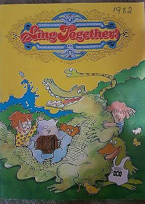 Lets sing book 1982 abc broadcasting corp music sheet book