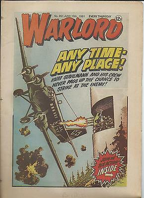 Warlord Comic number 351 , June 13th 1981