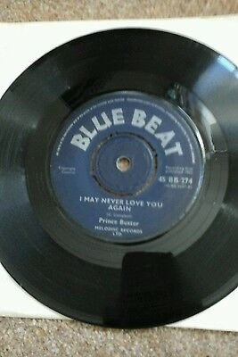"""Prince Of Peace- Prince Buster.vinyl7"""" 45Rpm.blue Beat Vgc"""