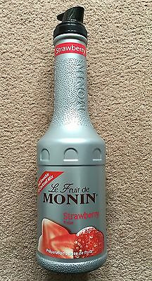 Monin Fruit Puree - 1 Ltr      *** Strawberry ***      Coctail, Coffee Syrup
