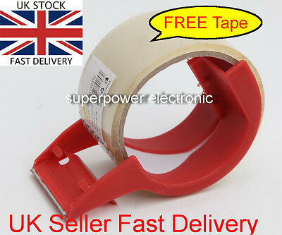 Parcel Tape Dispenser Gun holder Cutter Roll Quality Manual Hand Free Tape  48mm