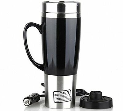 LIVEHITOP Car Electric Kettle Insulated Travel Mugs 450ML 12V-24V Cigarette Cup