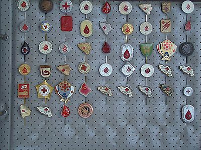 RED CROSS - Wholesale lot of 50 pins / badges from ex Yugoslavia