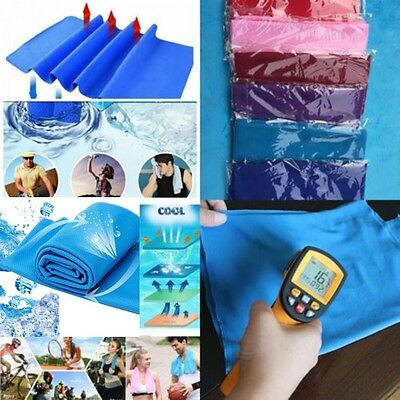 Jogging Practical Enduring Cold Sports Ice Towel Chilly Pad Instant Cooling