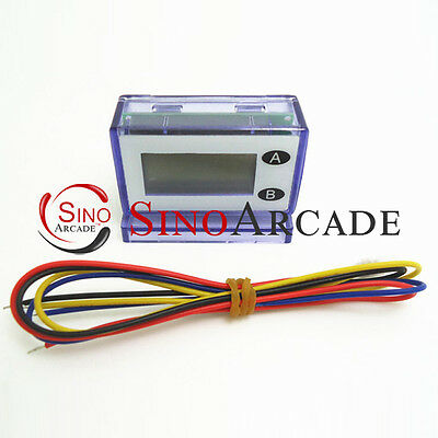 7 digits Unresetable Electronic LCD coin Counter meter for coin acceptor
