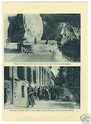 1916 WW1 Print SHAH PERSIA Russian Advance to Bagdad; RUSSIANS in FRANCE (44)