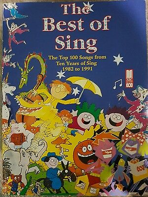 The Best Of Sing Book Music Sheet Book Abc Corporation 1982-1991