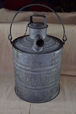 """Large Galvanized DOVER """"Railroad"""" Water Can 21"""" Tall"""