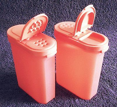 Tupperware - Spice Shakers - Two Large - Peach colour - New - Free Shipping