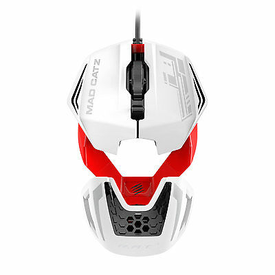 Mad Catz R.A.T. 1 RAT Gaming Mouse 3500 dpi Optical Sensor White / Red