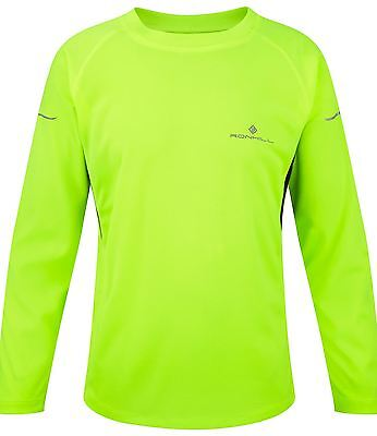 Ronhill Junior Pursuit Long Sleeve Running Shirt Fluo Yellow / Black 7-8 Years