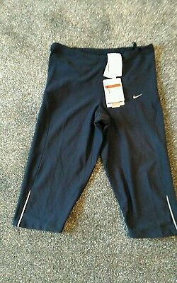 Nike Womans Running long Shorts Charcoal Grey  coloured Size Large 14-16