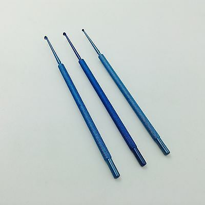 A set of Titanium Chalazion Curettes Micro ophthalmic eye surgical instrument