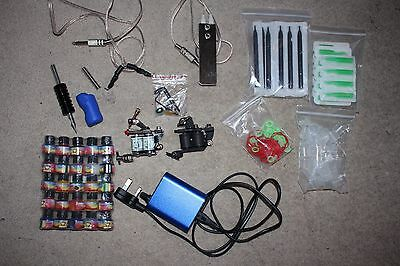 Complete tattoo kit 2 tattoo machine guns 25 ink power supply