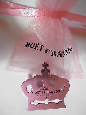 Broche Pince Champagne Rose Moët&chandon Couronne Couleur Rose Collection