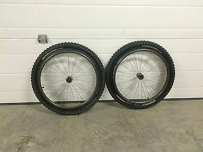 "Wheelchair off road tires 24"" x 2.5"" john tomac signature series on rims"