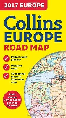 2017 Collins Map of Europe (Collins Road Maps)