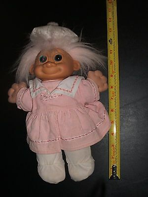 Russ Troll Kid GIRL Doll Stuffed Soft WITH CLOTHES Large 12""