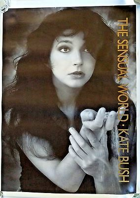 "Vintage KATE BUSH SENSUAL WORLD LP Poster Large 25""x35.5"" UK Original PROMO"