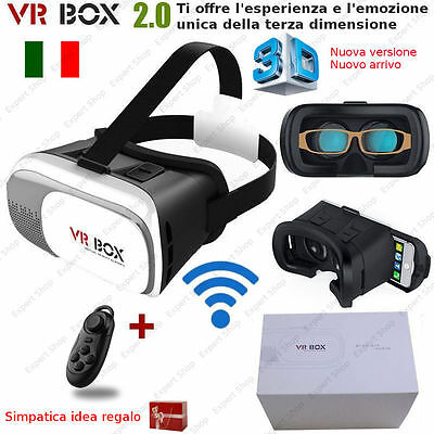VR BOX 2.0 Occhiali Realtà Virtuale 3D Virtual Reality+Gamepad bluetooth
