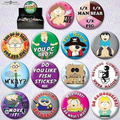 South Park TV Series Metal Photo Button Assortment of 144 Series 2 NEW BOXED