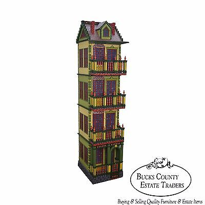 Custom Quality Tall Colorful Cabinet Bookcase Victorian Doll House Style