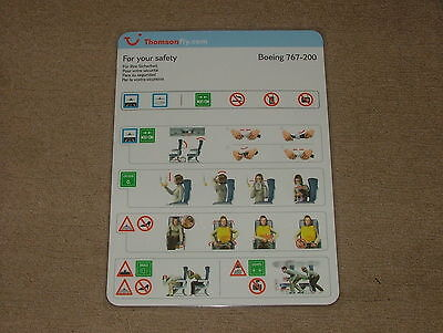 THOMSONFLY BOEING B767-200 SAFETY CARD Issue 02 MINT CONDITION AIRLINE