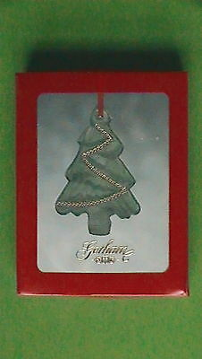 Gorham Green Crystal And Gold Accent Christmas Tree Ornament