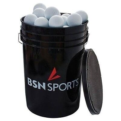 Lacrosse Balls for Practice 60 Balls With Bucket