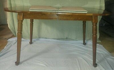 Vintage Walter Of Wabash #5 Kitchen Dining Room Table W/ 2 Leafs & Top Covers