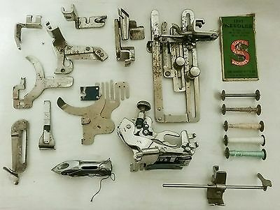 VINTAGE SINGER SEWING MACHINE ACCESSORIES and TOOLS INCLUDING SHUTTLE