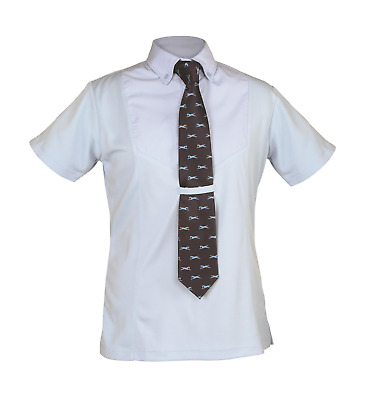Shires Childrens Short Sleeve Tie Shirt - Blue
