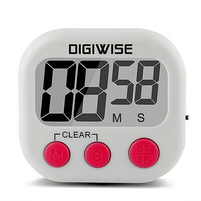 Kitchen Cooking Timer Mini Digital Electronic Count Down/Up Sports Clock Large