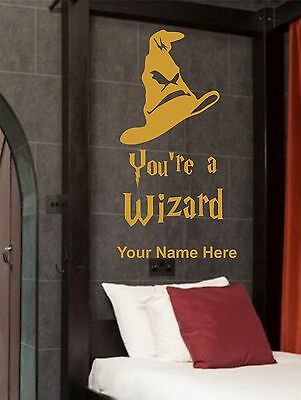 Harry Potter Wall Art Vinyl Sticker Decals You're a Wizard Personalised Hogwarts