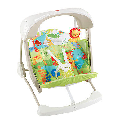 Fisher-Price Rainforest Friends Take-Along Swing and Seat - NEW